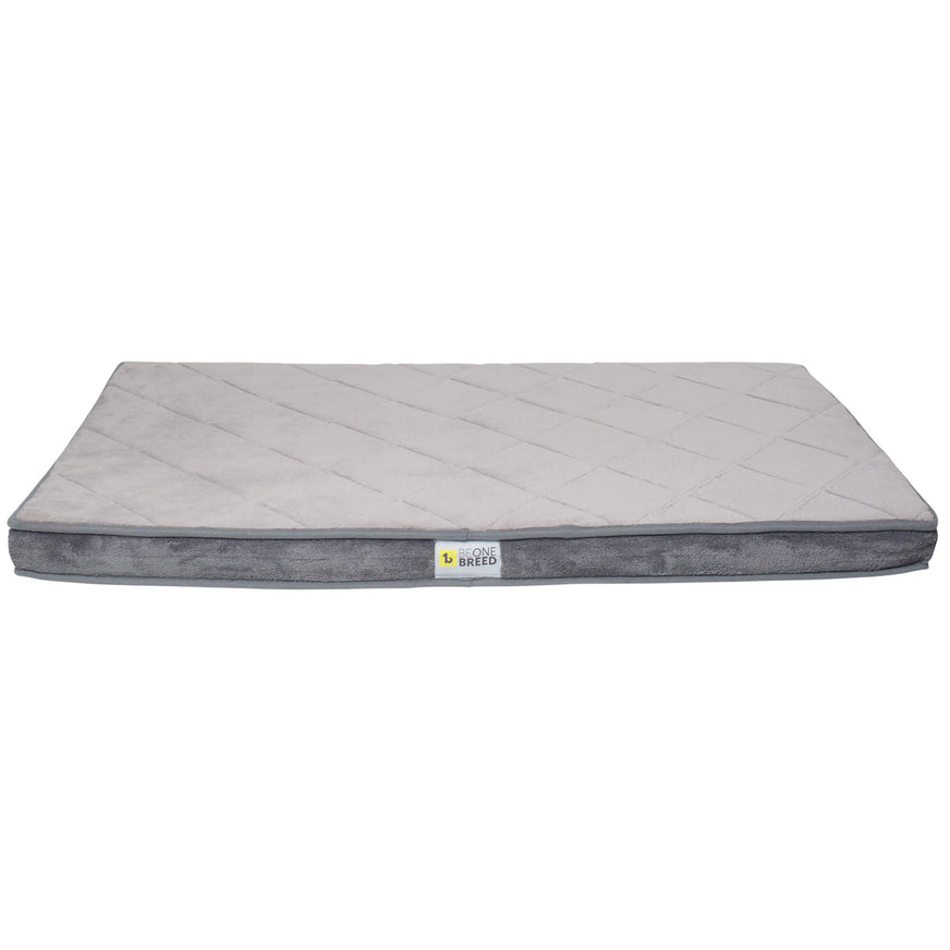 Be One Breed Grey Memory Foam Diamond Bed va0