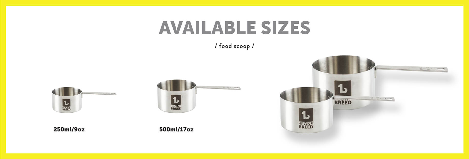 Be One Breed Food Scoops Sizes