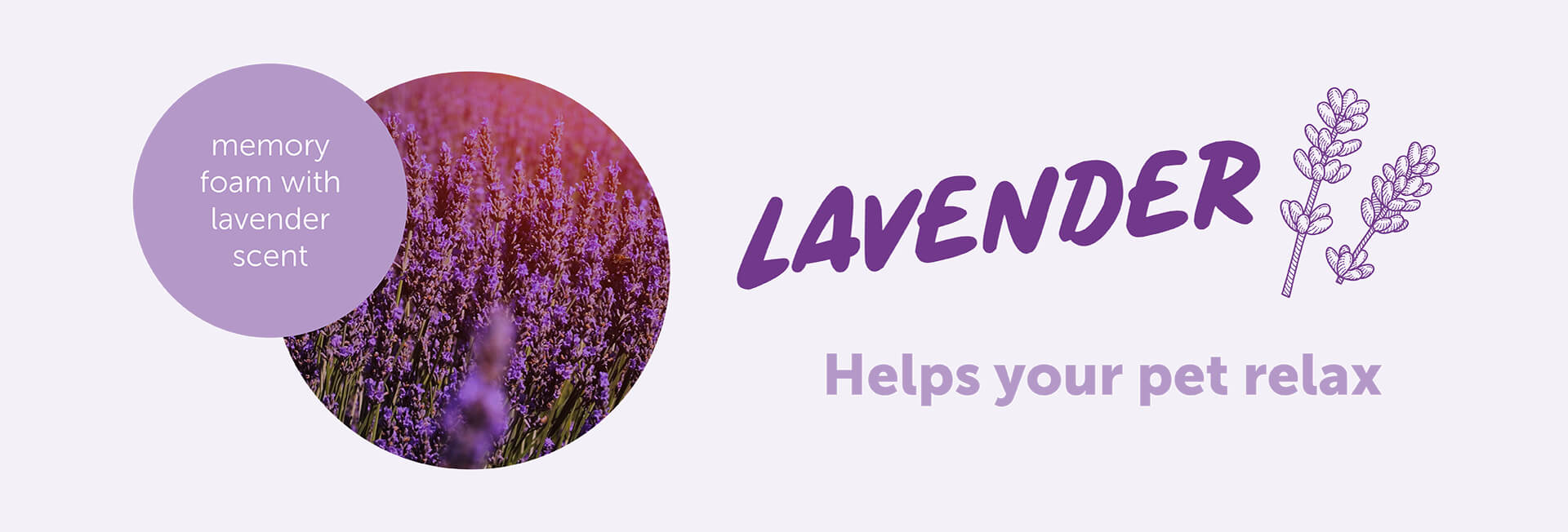 Memory foam infused with lavender to help your pet relax