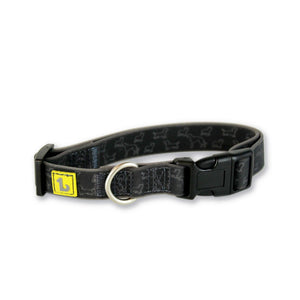 BeOneBreed Adjustable Silicone Dog Collar Black Doggies