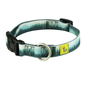 BeOneBreed Adjustable Silicone Dog Collar Forest