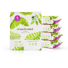 Load image into Gallery viewer, Earth Rated Certified Bio-based Wipes Lavender Scented 4-Pack va4