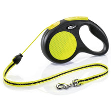 Load image into Gallery viewer, Flexi New Neon Reflective Retractable Leash Cord Yellow va2