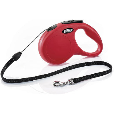 Flexi New Classic Retractable Dog Leash (Cord) Red va2