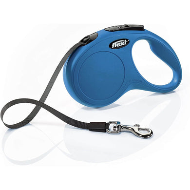 Flexi New Classic Retractable Leash Tape Blue va0