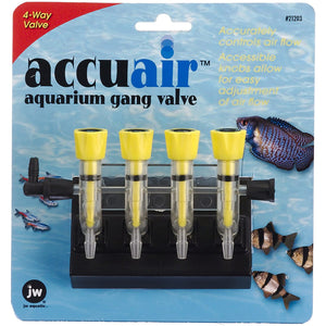 JW AccuAir Aquarium 4 Way Gang Valve