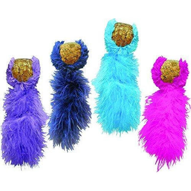 KONG Active - Cork Ball & Feather Tail with Catnip va0