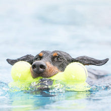 Load image into Gallery viewer, Dog swimming with Airdog® Squeaker Bone Floating Dog Toy va0