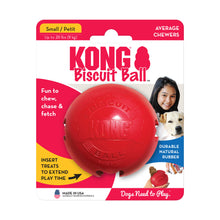 Load image into Gallery viewer, KONG Biscuit Ball Treat Dispensing Toy Small va1