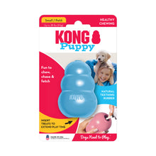 Load image into Gallery viewer, KONG Treat Dispensing Puppy Toy Packaging Small Blue va2