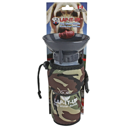 Lap-It-Up Portable Dog Water Bottle Camo
