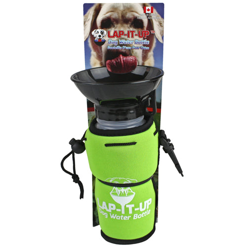 Lap-It-Up Portable Dog Water Bottle Green
