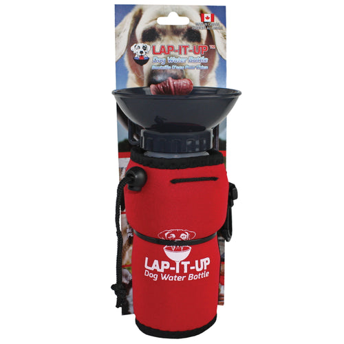 Lap-It-Up Portable Dog Water Bottle Red