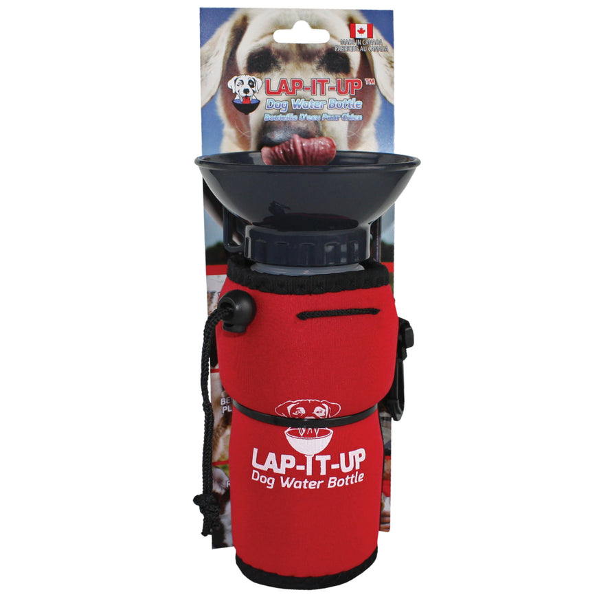Lap-It-Up Portable Dog Water Bottle Red va1