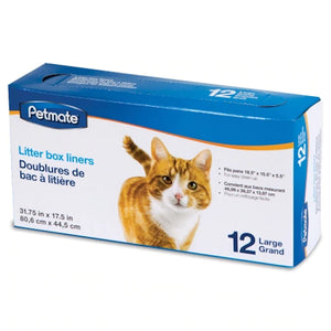 Petmate Clear Litter Pan Liners - Large