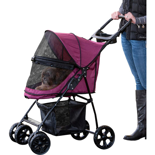 Happy Trails Lite NO-ZIP Pet Stroller Boysenberry