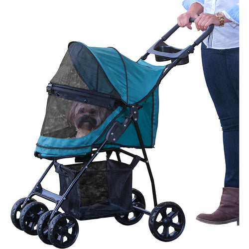 Happy Trails Lite NO-ZIP Pet Stroller Pine Green