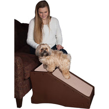 Load image into Gallery viewer, Pet Gear Non-Slip Step & Ramp Combination Chocolate