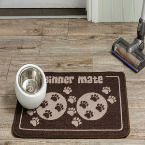 Dinner Mate Absorbent Pet Food Mat Brown