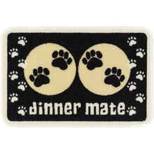 Load image into Gallery viewer, Dinner Mate Absorbent Pet Food Mat Black