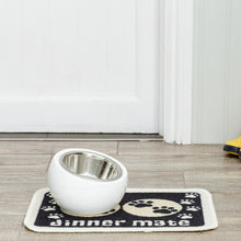 Load image into Gallery viewer, Dinner Mate Absorbent Pet Food Mat Black Mini