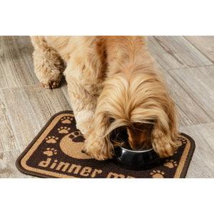 Dinner Mate Absorbent Pet Food Mat Brown Mini