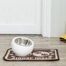 Load image into Gallery viewer, Dinner Mate Absorbent Pet Food Mat Brown Mini