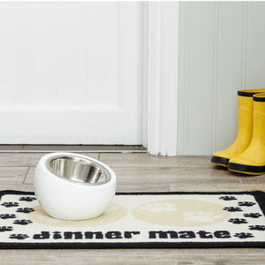 Dinner Mate Absorbent Pet Food Mat Cream