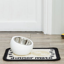 Load image into Gallery viewer, Dinner Mate Absorbent Pet Food Mat Cream Mini