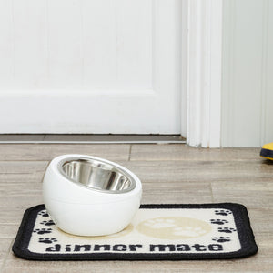 Dinner Mate Absorbent Pet Food Mat Cream Mini