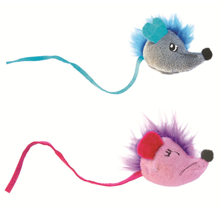 Petstages Fuzzy Rat Cat Toy - 2pk