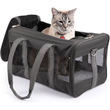 Load image into Gallery viewer, Sherpa Original Deluxe Pet Carrier Black