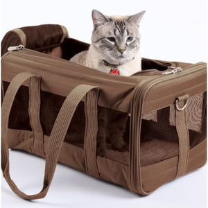 Sherpa Original Deluxe Pet Carrier Brown