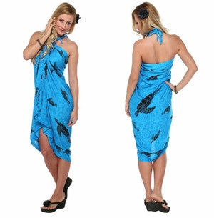 1World Sarong Sea Turtles Swimming in Turquoise