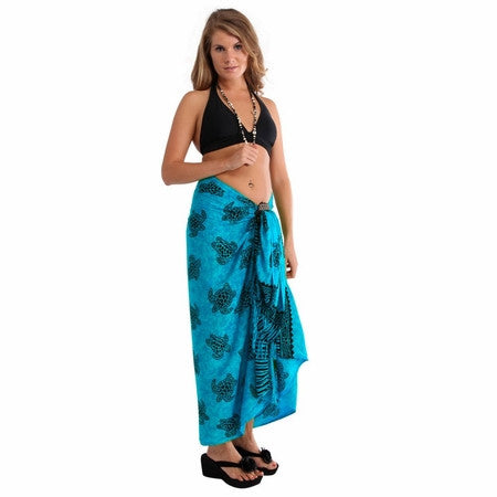 1World Sarong Sea Turtles Turquoise
