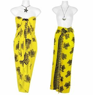 1World Sarong Turtles in Yellow