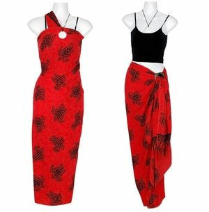 1World Sarong Turtles Sarong Red