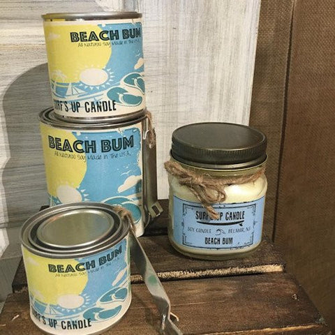 Surf's Up Beach Bum Mason Jar Candle