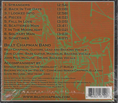 Billy Chapman Band Rosalea's Dream Music CD