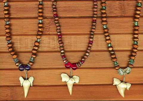 Charming Shark Beaded Shark's Tooth Necklace