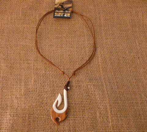 Charming Shark Bone & Wood Hook