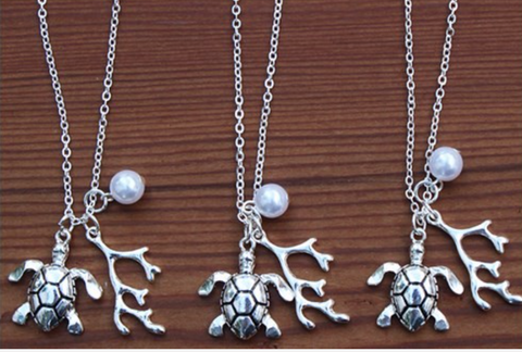 Charming Shark Sea Turtle Necklace # 2