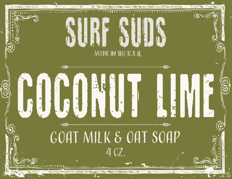 Surf's Up Surf Suds Coconut Lime Soap