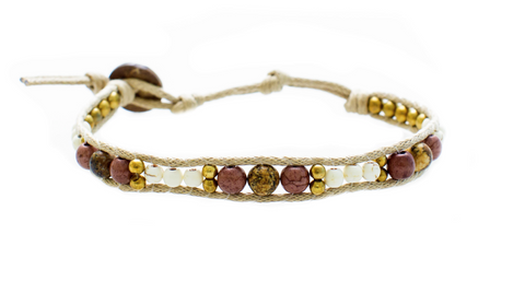 Lotus and Luna desert Bloom Kapha Paradise Bracelet