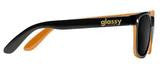 Glassy Sunhaters Leonard Black/Orange Sunglasses