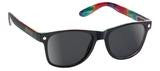 Glassy Sunhaters Leonard Black/Tie-Dye Sunglasses