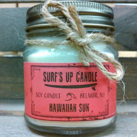 Surf's Up Hawaiian Sun Mason Jar Candle