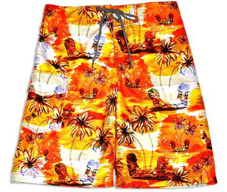 "Just Bone Boardwear ™ Men's Board Shorts ""Tiki"""