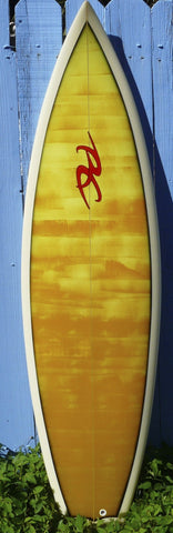 "Ricky Carroll  6'0"" Bat Tail Quad Surfboard"