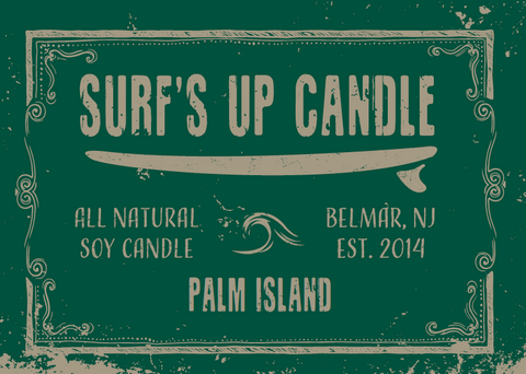 Surf's Up Palm Island Mason Jar Candle